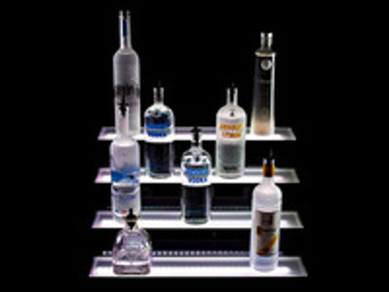 Update Your Old Bar with Tiered LED Lighting Displays