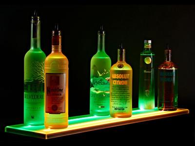 Double Wide LED Liquor Shelf
