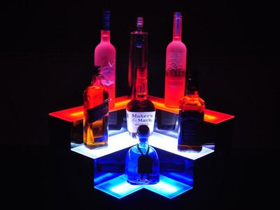 Corner 3 Tier LED Bar Shelf Display