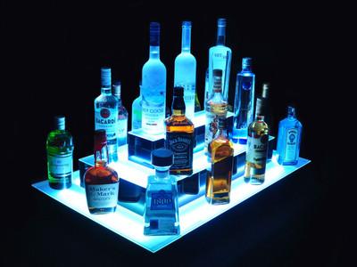 Island 3 Tier LED Bar Shelf Display