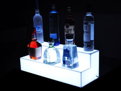 Glow Step 2 Tier LED Bar Shelf Display