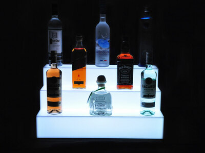 Glow Step 3 Tier LED Bar Shelf Display