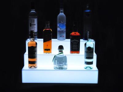 Glow Step 3 Tier LED Bar Shelf Display