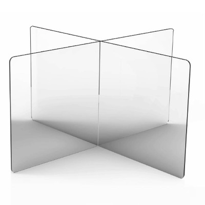 Interlocking Sneeze Guard Panels for Round & Square Tables