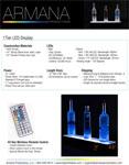 1 Tier LED Display Spec Sheet