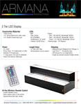 2 Tier LED Display Spec Sheet