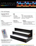 3 Tier LED Display Spec Sheet