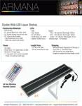 Double Wide LED Shelf Spec Sheet