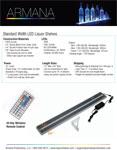 Standard Width LED Shelf Spec Sheet