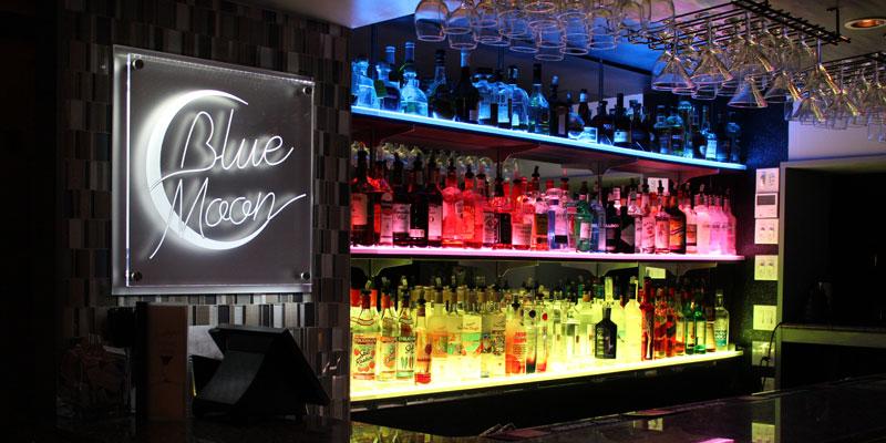 LED Lighted Bar Shelves