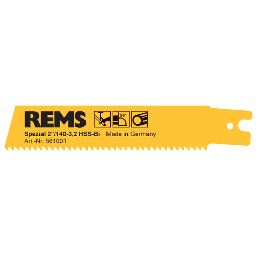 "REMS 561001 - Yellow Special Saw Blade 2""/140-3.2 (5 Pack)"