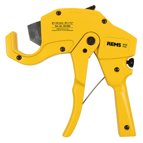 "REMS 291250 - ROS P 42 Ratcheting Plastic Pipe Cutter (0""-1-5/8"")"