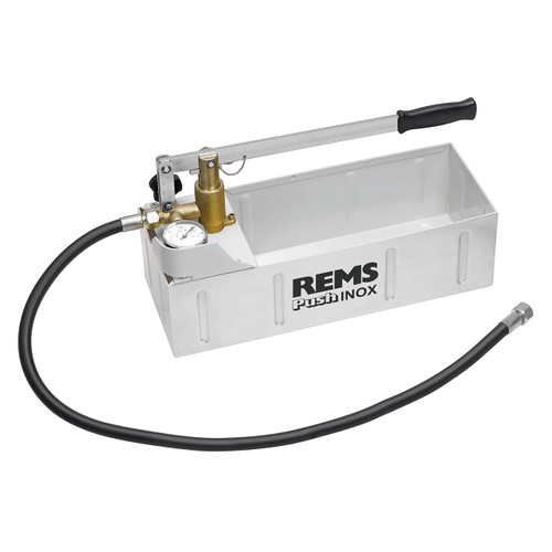 REMS 115001 - Push INOX Hand Pressure Testing Pump (860 PSI)