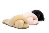 UGG Premium Cross Fluff Slides Linty Slipper
