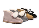 AS UGG Ribbon Pom Pom Mini Boots Doreen