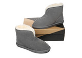 AS UGG Slippers Parker Unisex Ankle Slippers Double-face Sheepskin Water-resistant