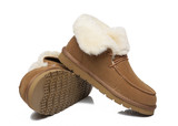 AS Women Mini Ugg Alaina Casual Ankle Ugg Boots with Wool Collar