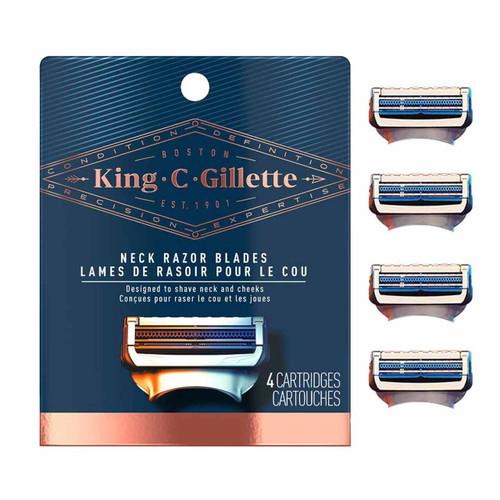 King C. Gillette Neck Razor Blades (4 Count)