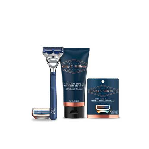 Bundle: Neck Razor & 4ct Refills & Shave Gel