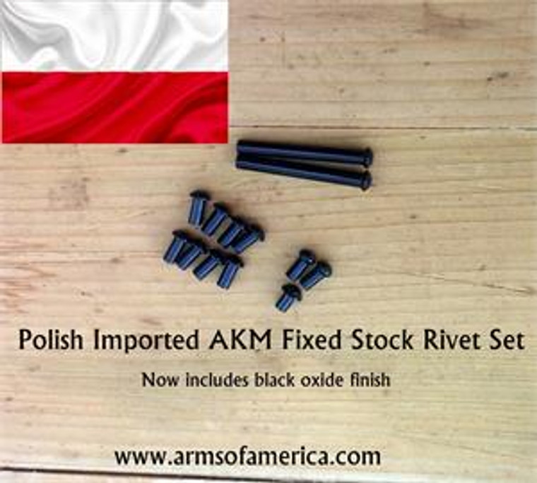 AKM RIVET SET *ORIGINAL POLISH MILITARY IMPORTED RIVETS