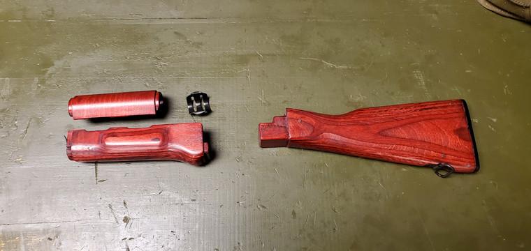 WBP AK wood stock set RED laminate W/Trap door buttstock