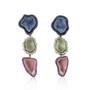 Pastel Triple Geode Earrings