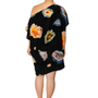 Floating Agate Printed Silk Caftan
