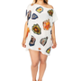 Floating Geode Printed Silk Caftan