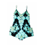 Turquoise Printed Playsuit