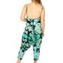 Turquoise Printed Harem Jumpsuit