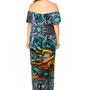 Yowah Opal Printed Bardot Dress