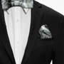 Black & White Agate Printed Pocket Square