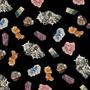 Floating Mineral Printed Pocket Square