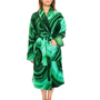 Malachite Printed Robe