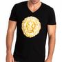 Lion Printed V-Neck