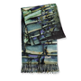 Layered Opal Printed Cashmere Throw