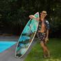 Floating Agate Printed Swim Trunks