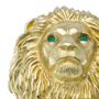 Lion Ring with Emerald Eyes