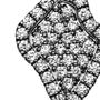 Geode Inspired Pave Diamond Lapel Pin