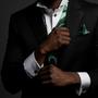 Geode Inspired Pave Emerald Cufflinks