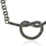 Love Knot Pendant with Black Diamonds