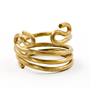 Napkin Ring Fashioned after Ancient Black Coral - Brass