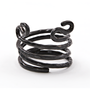 Napkin Ring Fashioned after Ancient Black Coral - Blackened