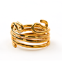 Napkin Ring Fashioned after Ancient Black Coral - Gold