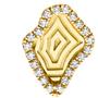 Agate Inspired Diamond Frame Mini Studs
