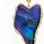 Black Opal and Irregular Diamond Pendant