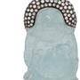 Aquamarine Buddha and Diamond Pendant
