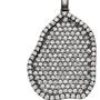 Geode Inspired Pave Diamond Pendant - Large