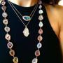 Geode Inspired Pave Diamond Pendant - Medium