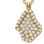 Geode Inspired Pave Diamond Pendant - Mini